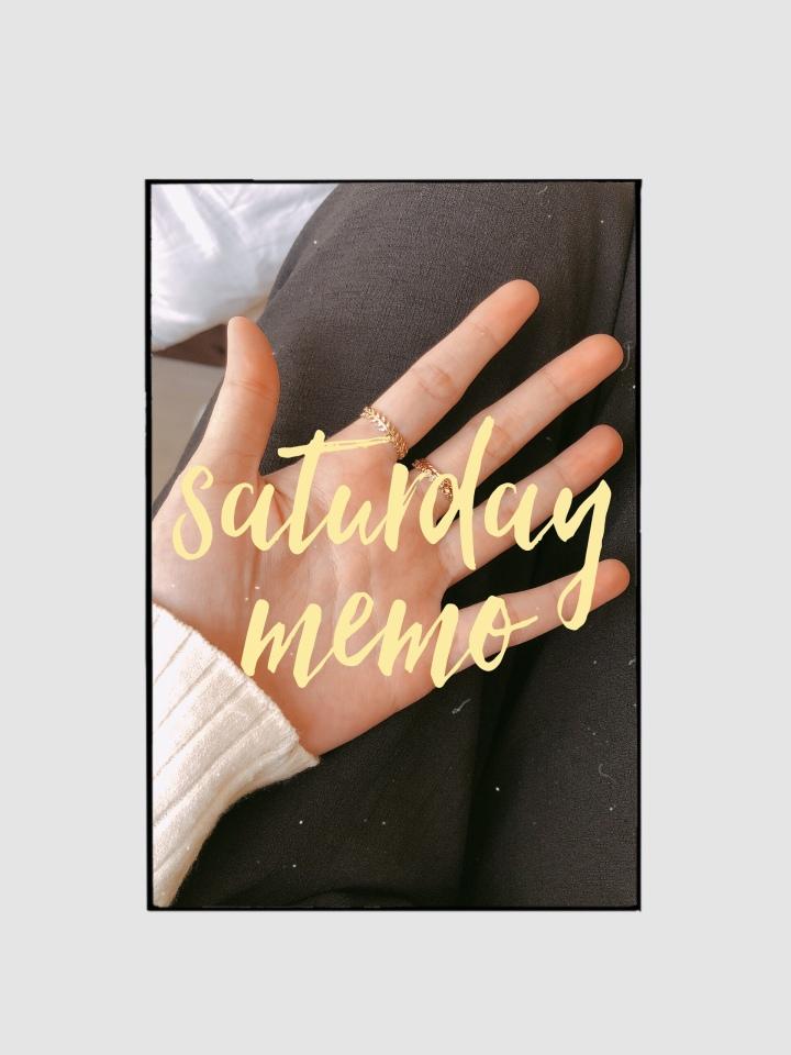Saturday Memo